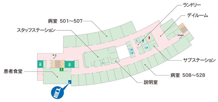5~7階フロアマップ